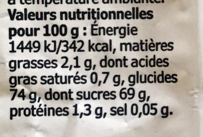 Munsbit - Informação nutricional