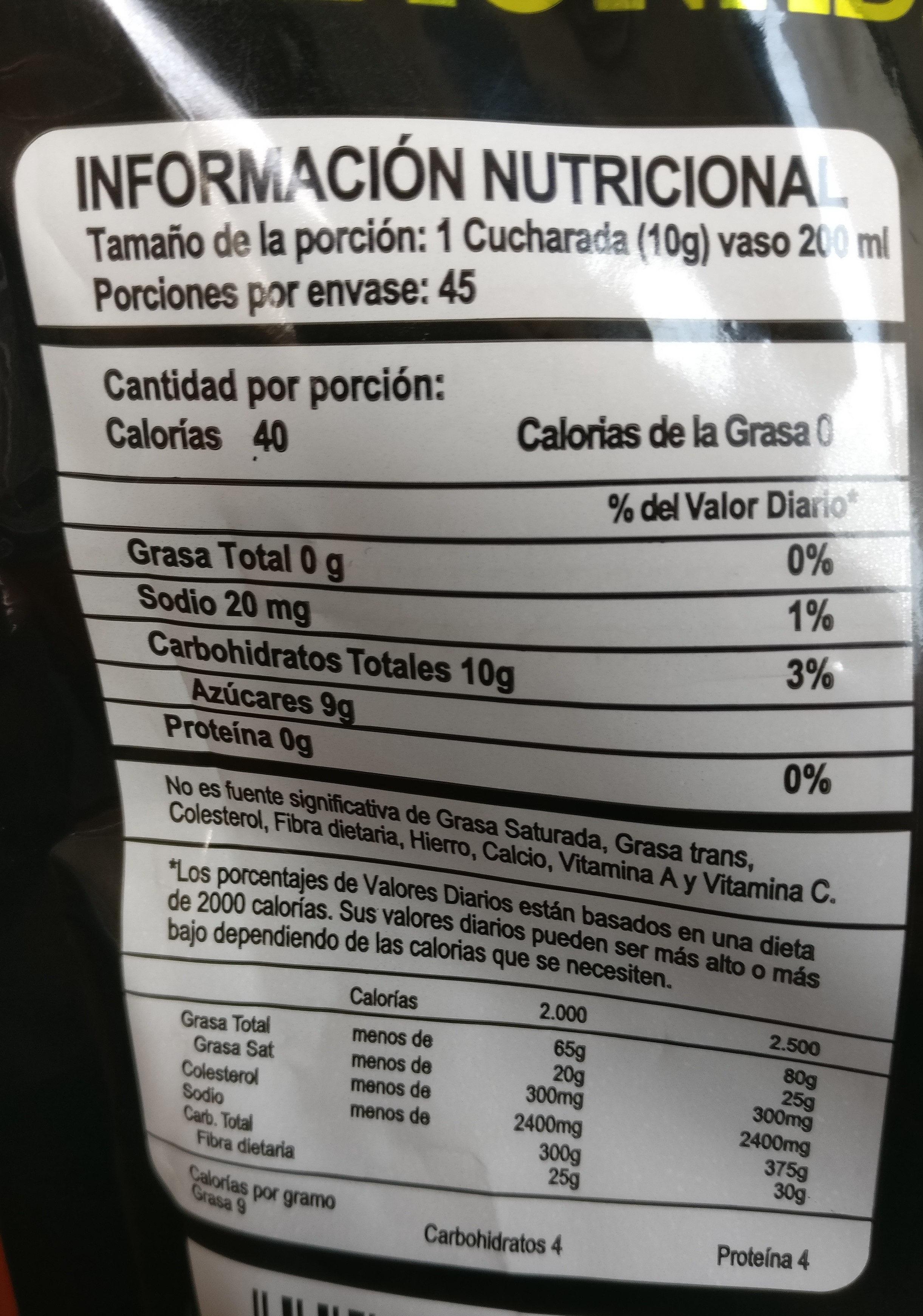 Limonada de Coco - Ingrédients