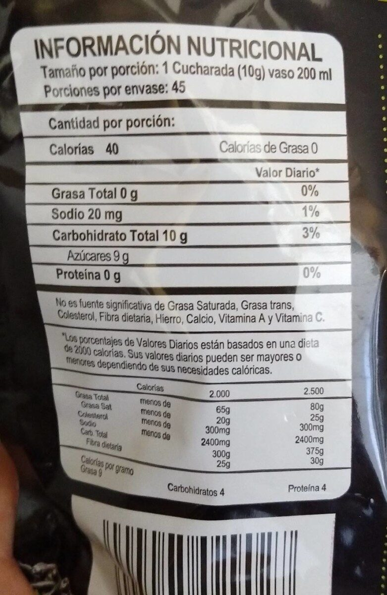 Limonada de Coco - Informations nutritionnelles