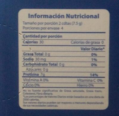 kedeli gelatina - Informations nutritionnelles