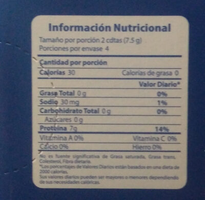 kedeli gelatina - Nutrition facts