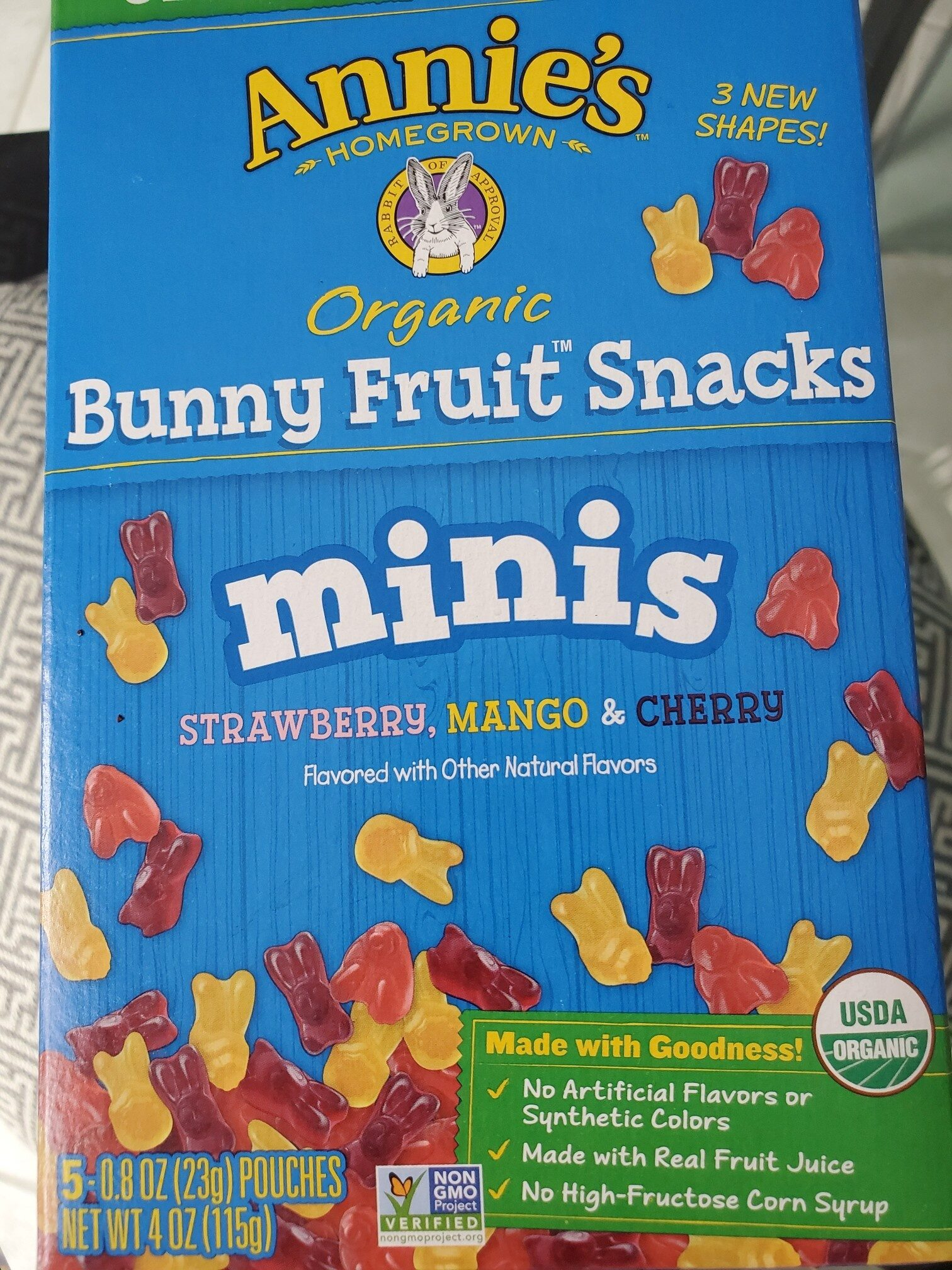 Annies Organic Bunny Fruit Snacks - Product
