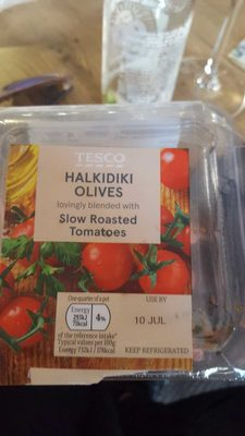 Halkdiki olives with slow roasted tomatoes - Product