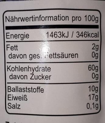 Bio-Dinkel Flocken - Nutrition facts - de