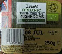 Organic British chestnut mushrooms - Product