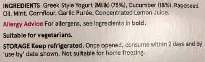 Tzatziki - Ingredients - en