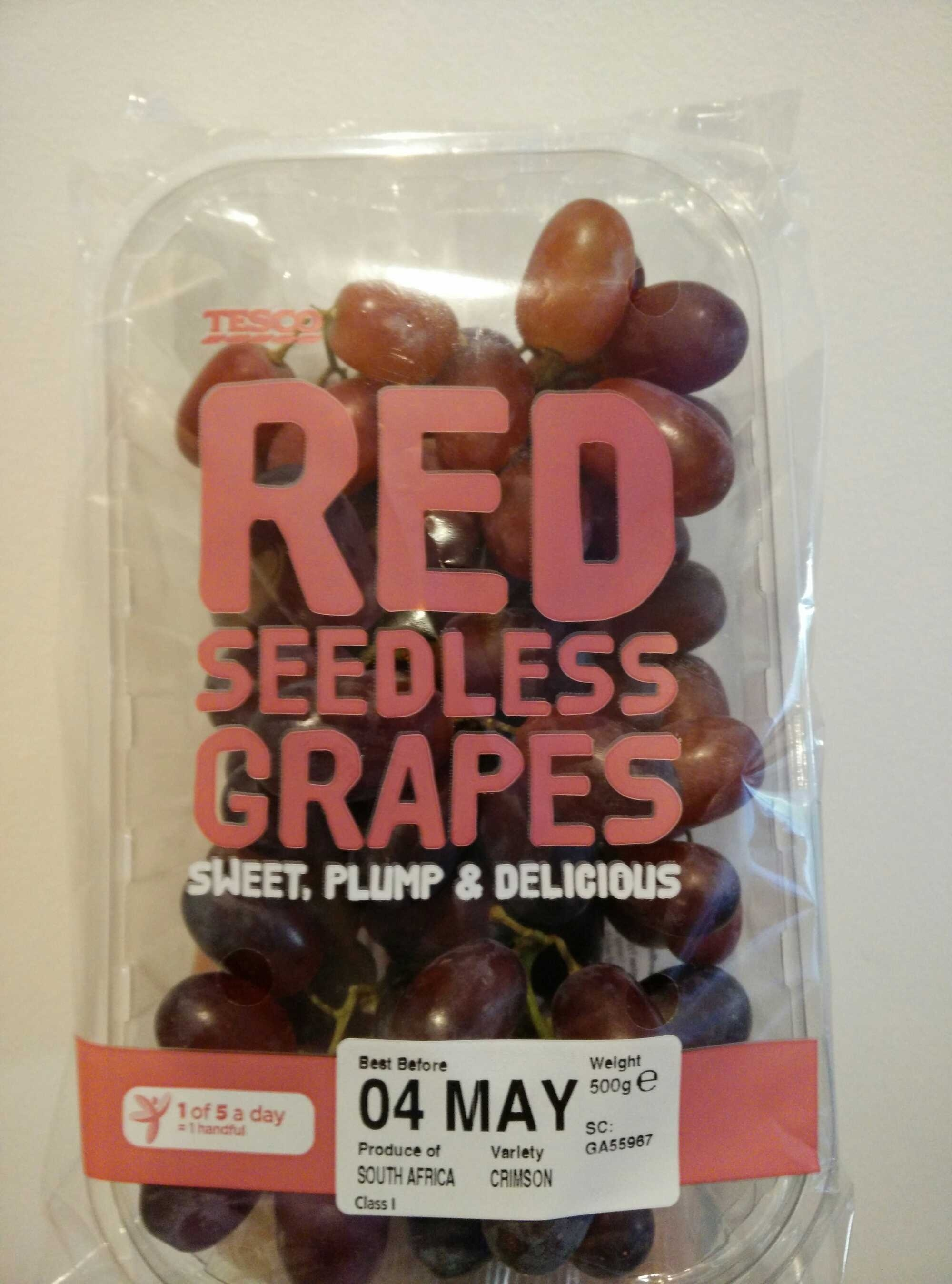 Red seedless grapes - Product
