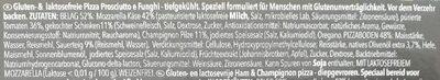 Pizza Prosciutto & Funghi - Ingredienti - de