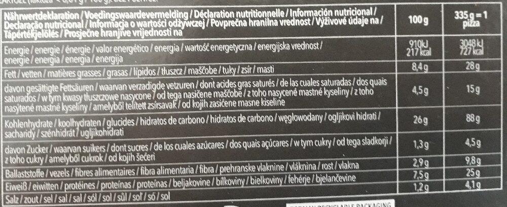 Pizza Prosciutto & Funghi - Informations nutritionnelles - de