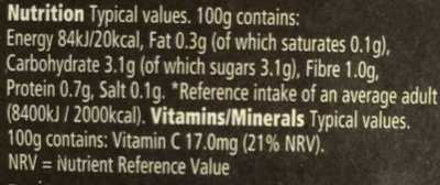 Cherry tomatoes - Nutrition facts