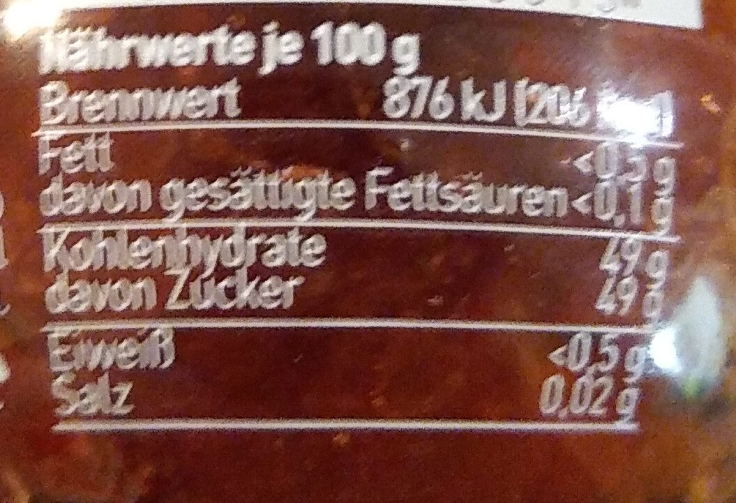 Glück aus Erdbeeren - Nutrition facts - de
