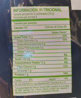 Nuthos - Informations nutritionnelles - es