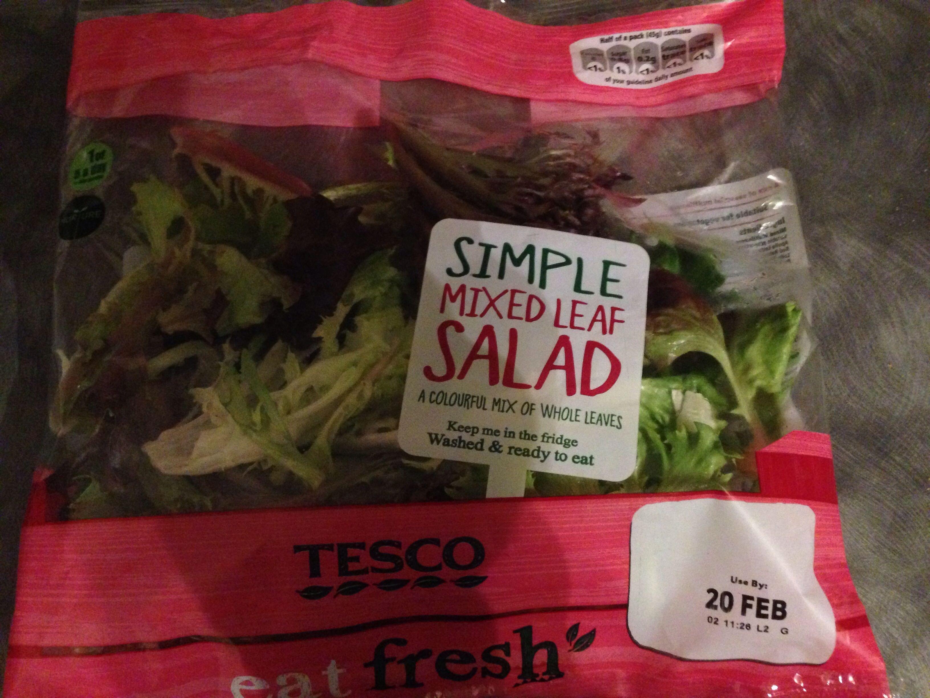 Simple mixed leaf salad - Product