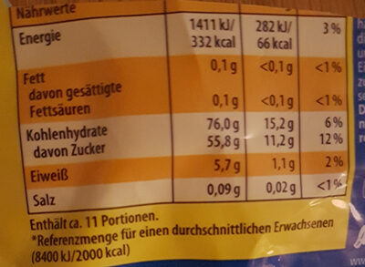 Lachgummi Heroes - Nutrition facts