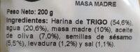 Regañas frescas ajonjoli - Ingredientes - es