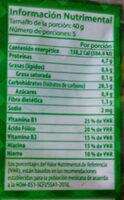 fideo mediano - Voedingswaarden
