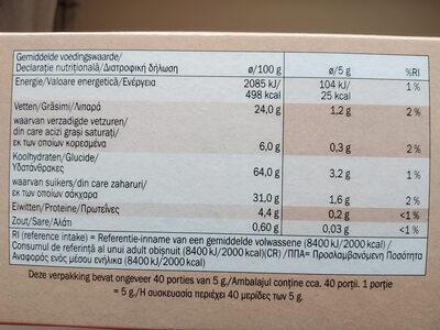 Gluten free dark chocolate chip cookies - Nutrition facts - en