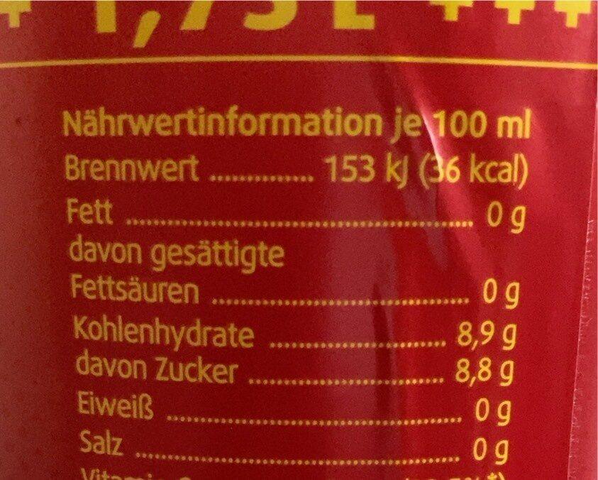 Cola - Nährwertangaben - de
