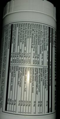 Vita-antioxydant - Informations nutritionnelles