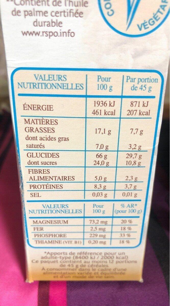 Country Crisp chocolat au lait - Informations nutritionnelles - fr