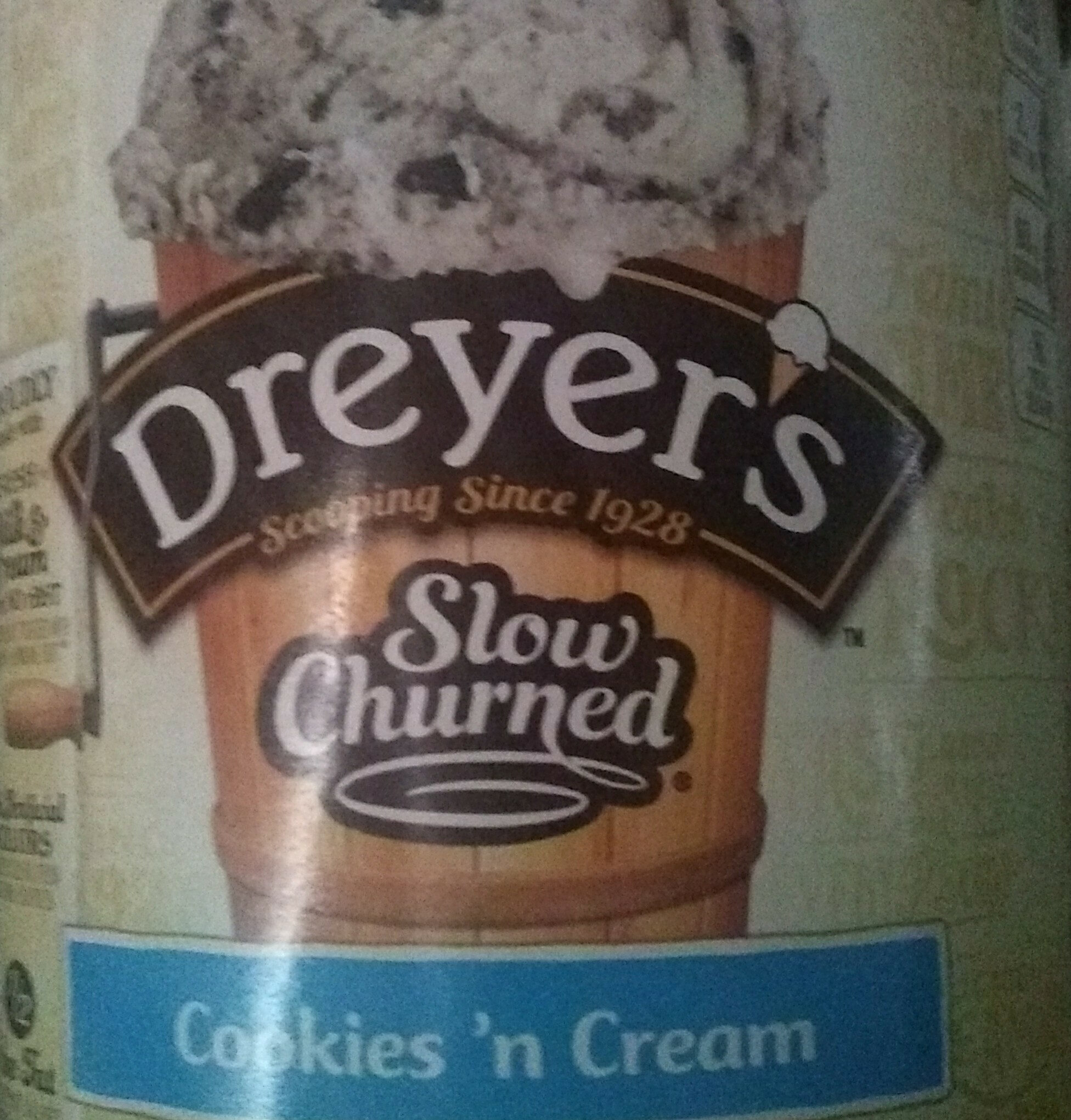 Slow Churned Cookies'n CreamDreyer's Ice Cream - Product