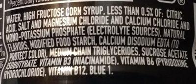 Powerade Mountain Berry Blast - Ingredients
