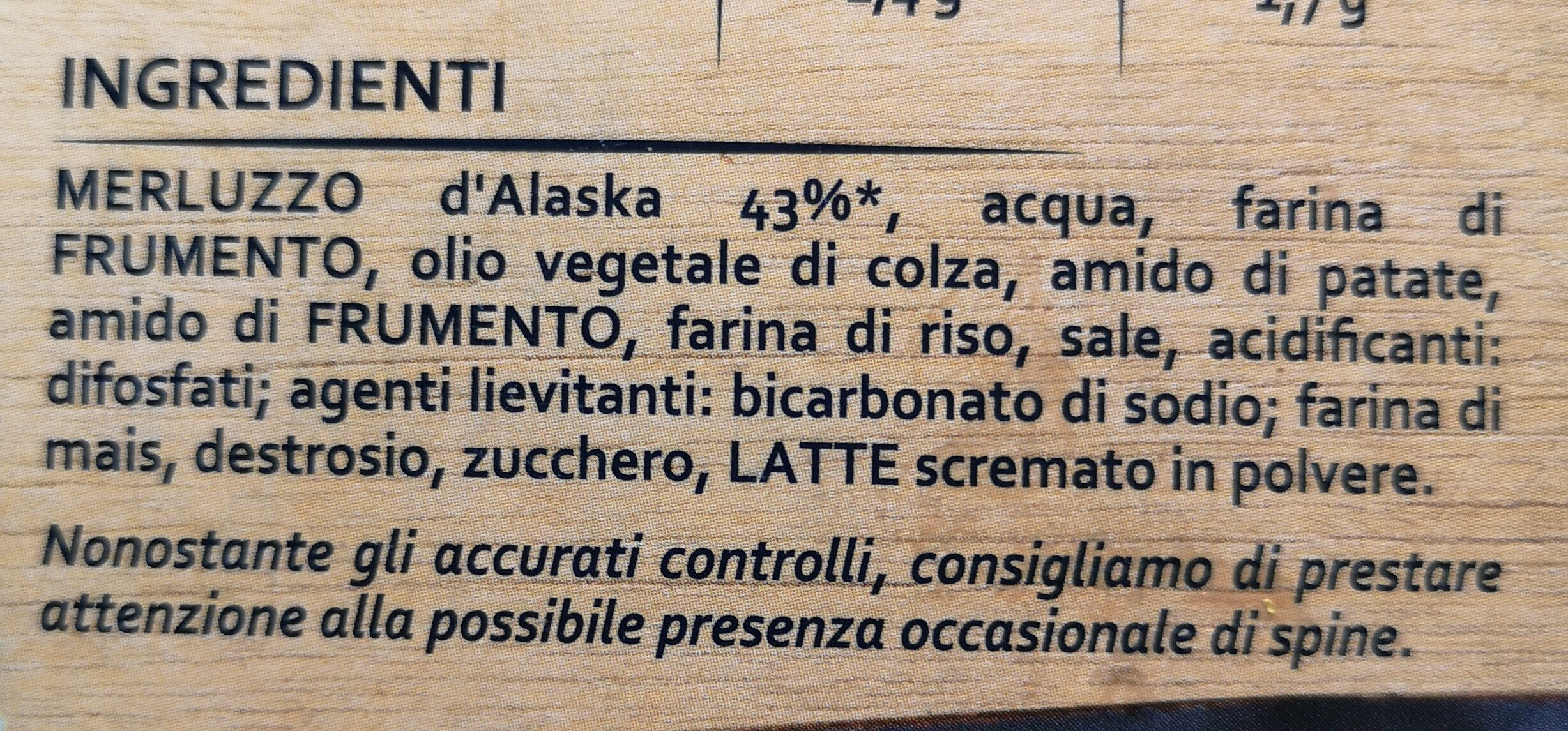 Nuggets di MERLUZZO di Alaska - Ingrédients - it