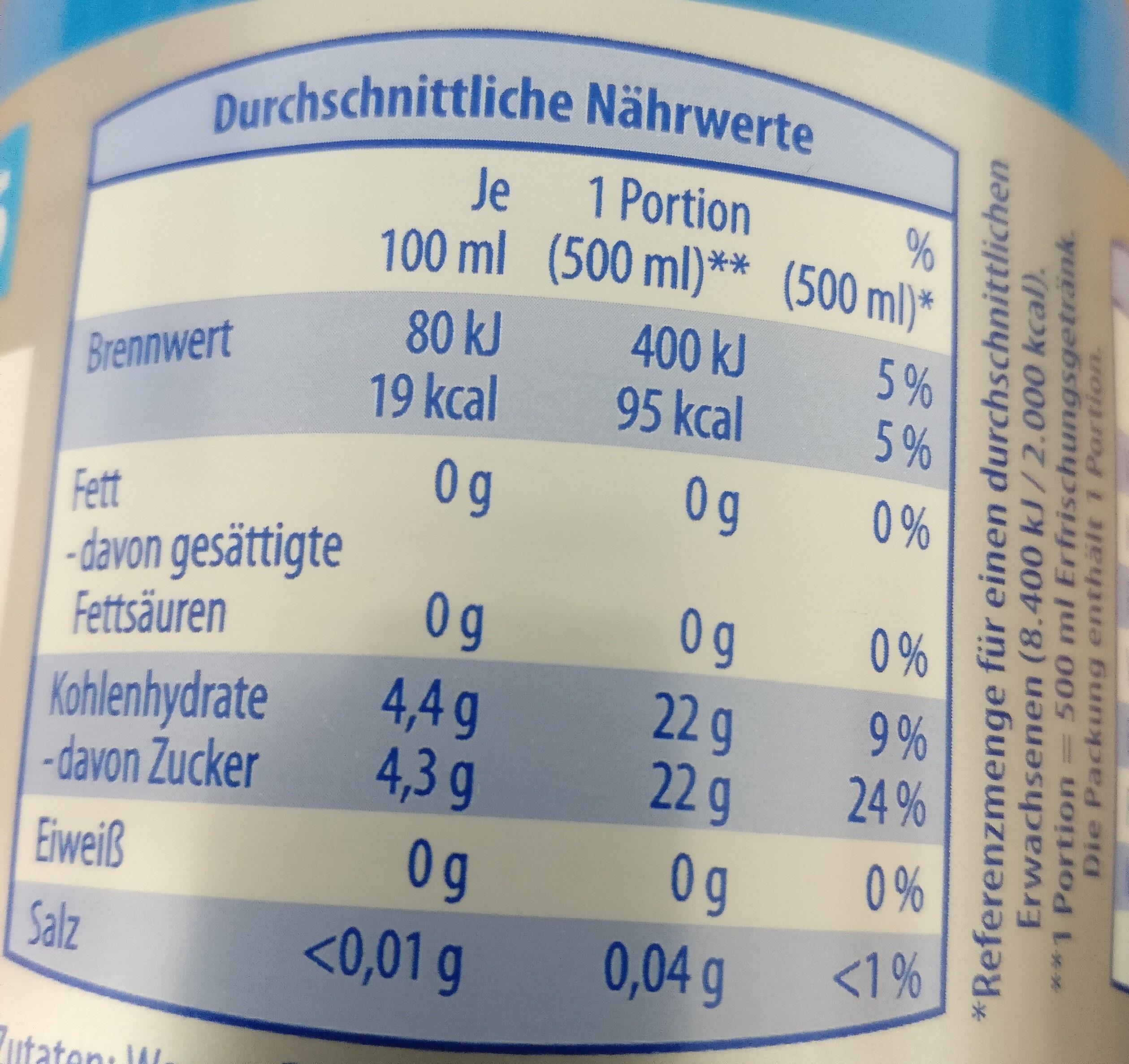 ISO light Grapefruit-Citrus - Informations nutritionnelles