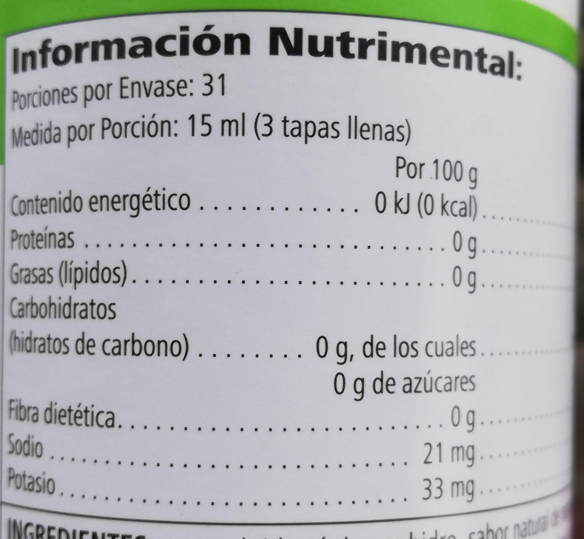 Herbal Aloe Concentrado - Informação nutricional - es