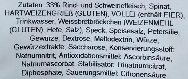 Hausgemachte Maultaschen - Ingrédients - de