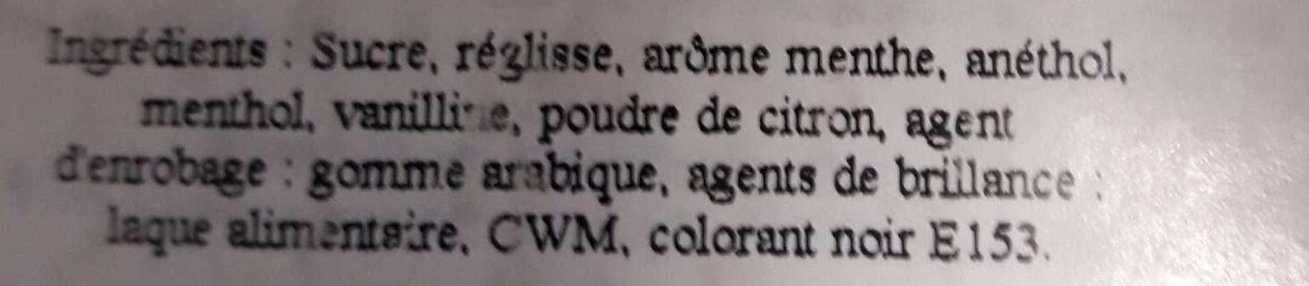 Pastilles Réglisse - Ingrediënten - fr