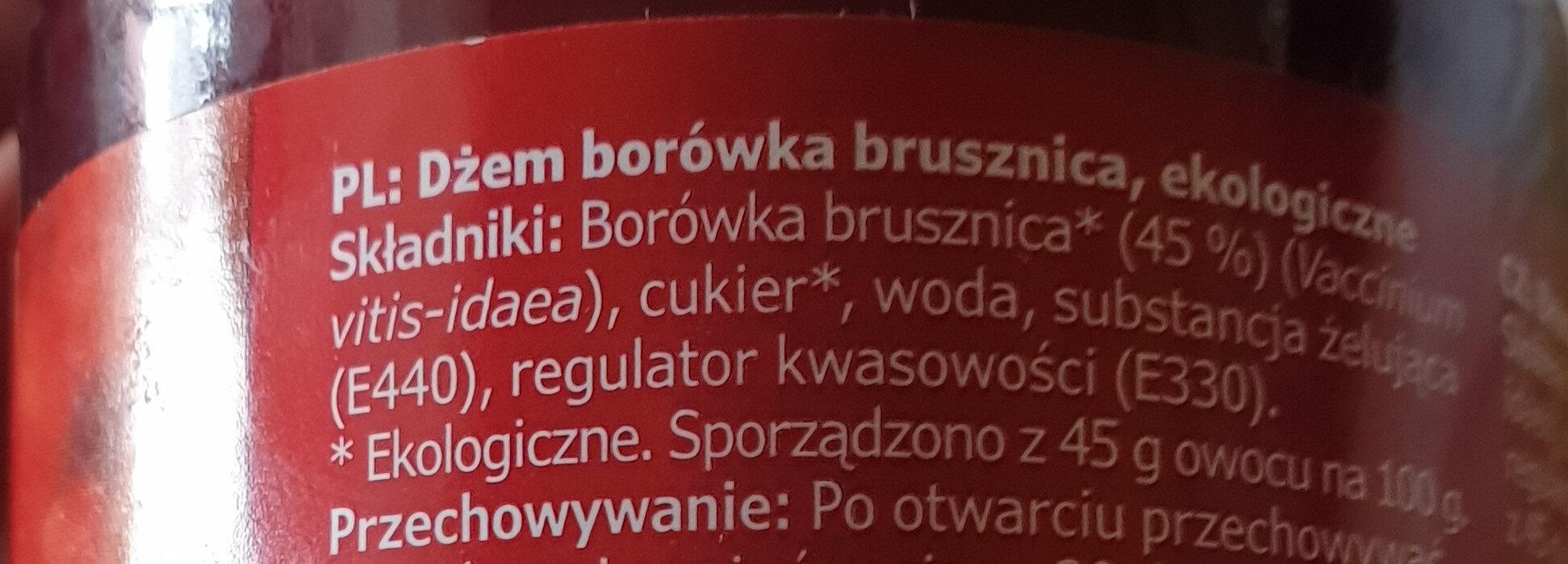 Ekologisk SYLT LINGON - Składniki - pl