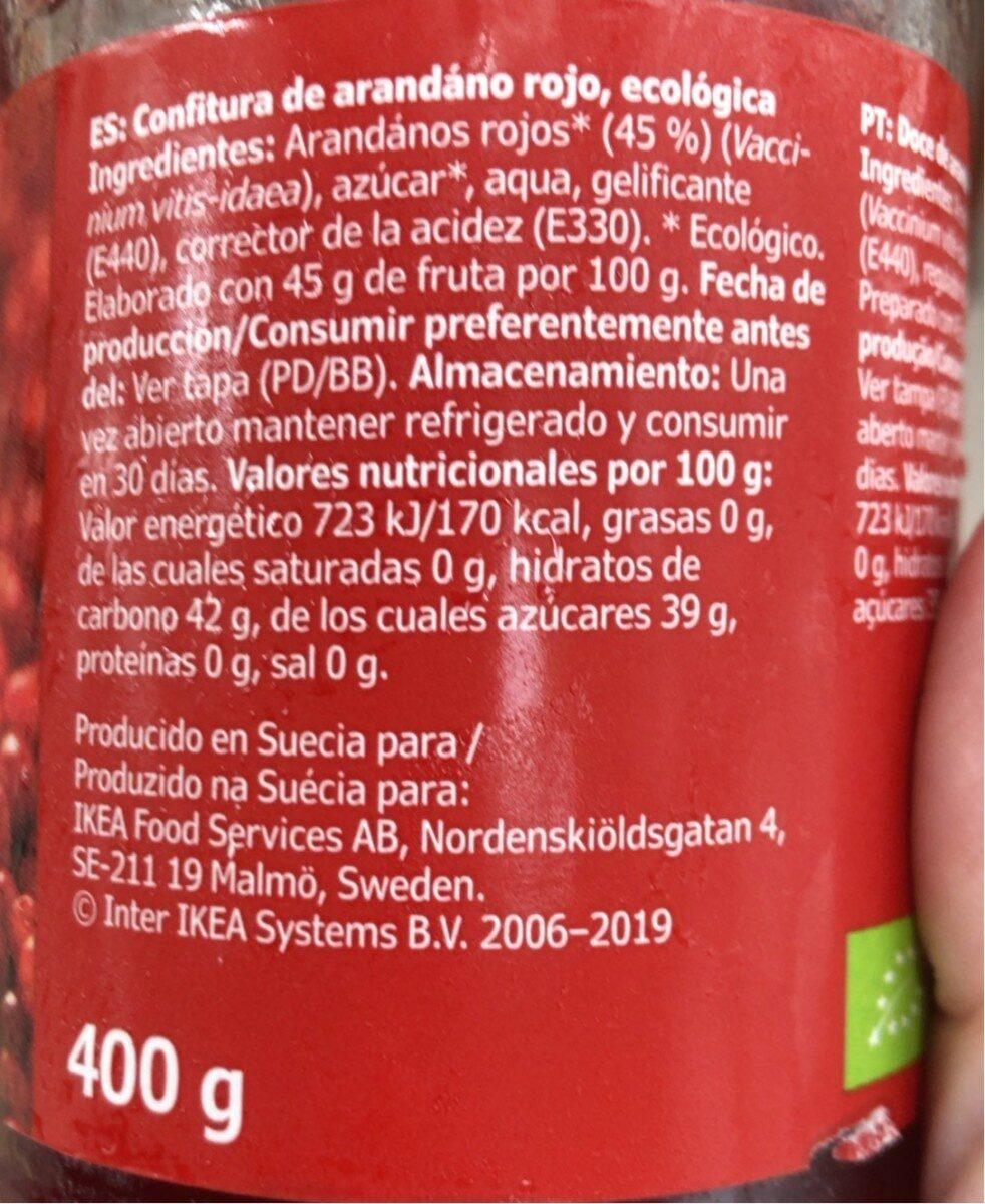 Sylt Lingon - Nutrition facts - en