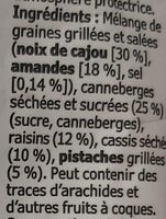 Mélange De Graines Grillees - Ingredients - fr