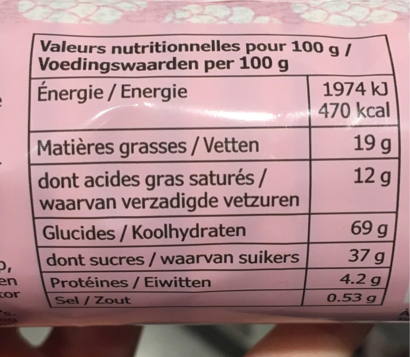 KAFFEREP - Nutrition facts