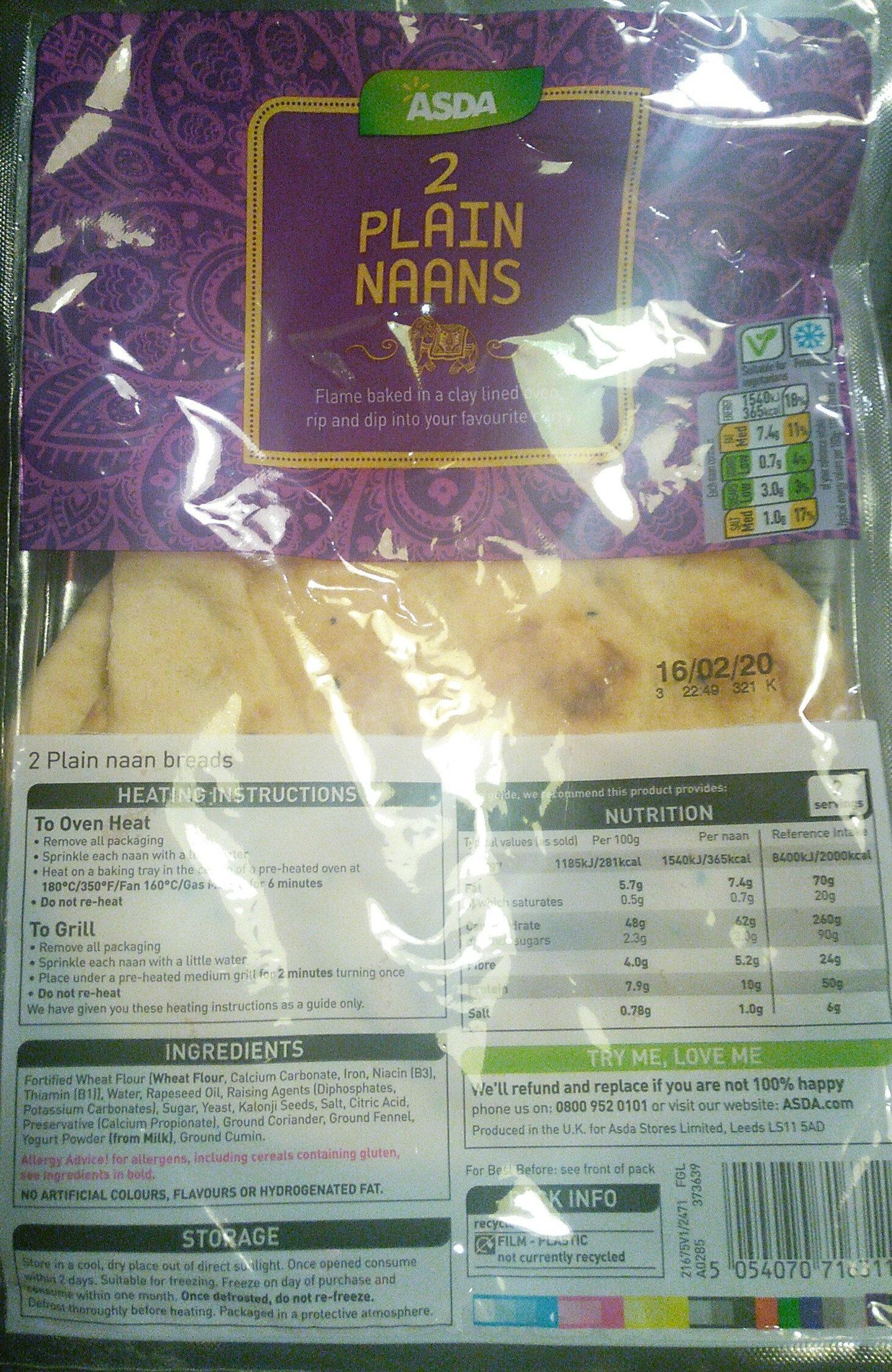 2 plain naans - Product