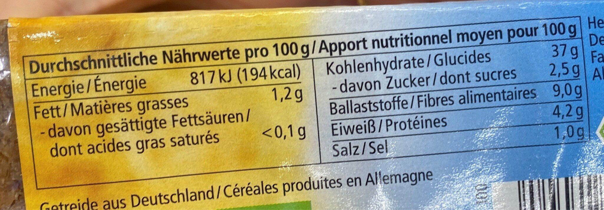 Mais amaranth waffeln - Nährwertangaben - de