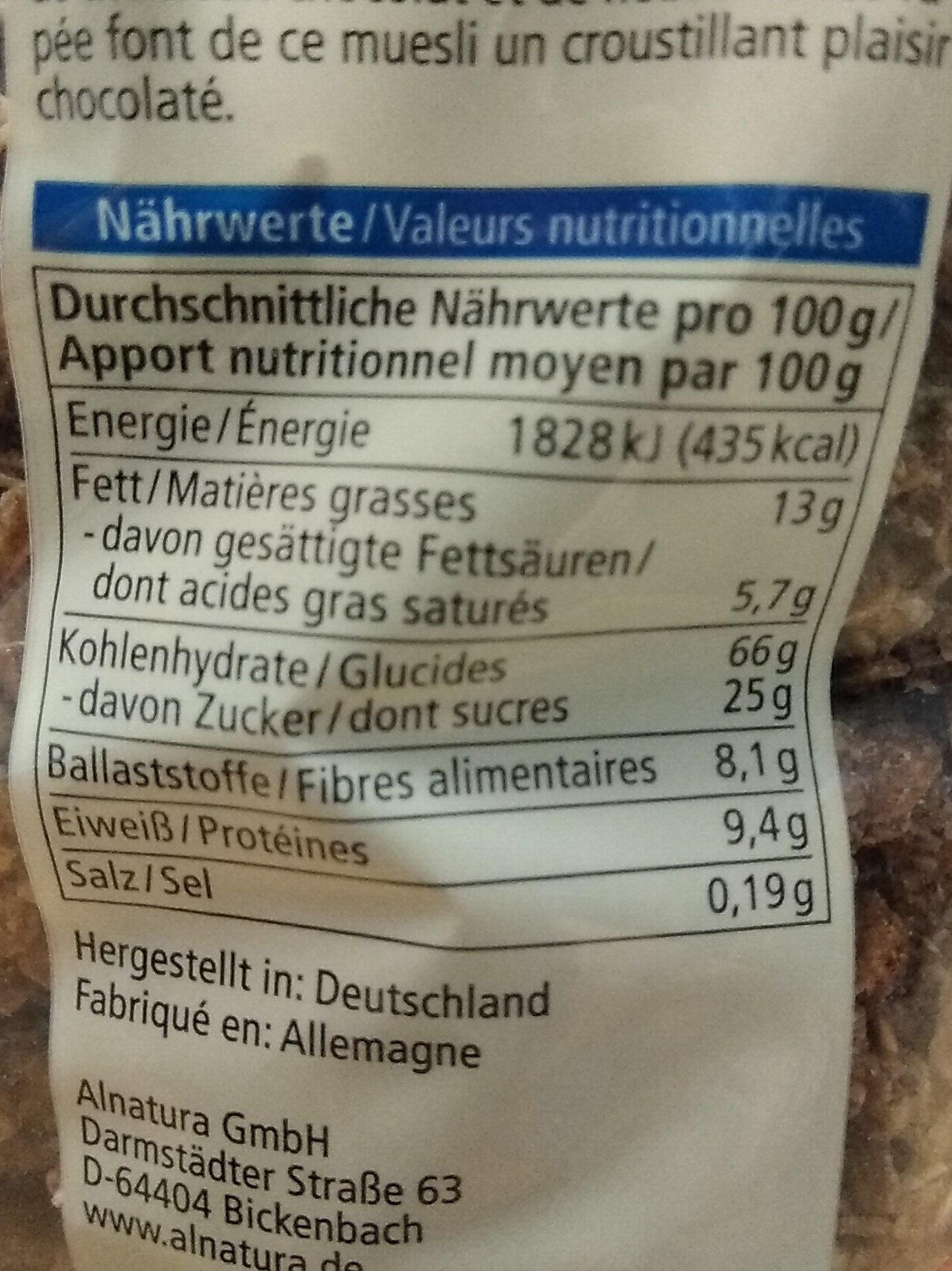 Mais amaranth waffeln - Informations nutritionnelles - fr