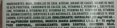 ades soja sabor chocolatada - Ingredients