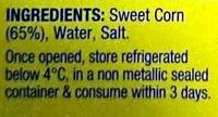 Corn Kernels - Ingredients