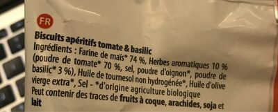 P'tit snack tomate basilic - Ingrédients - fr