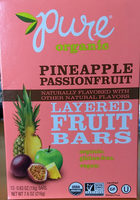 Pineapple passion fruit layered fruit bars - Product - en