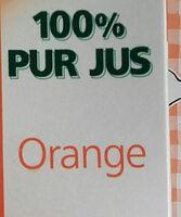jus d Orange - Ingrédients - fr