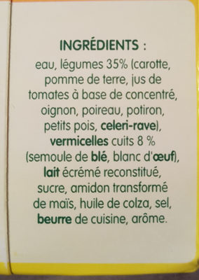 Potager malin - Ingrédients - fr