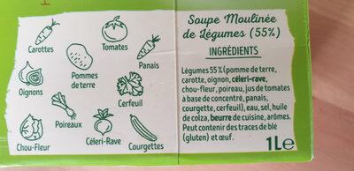Mouliné de 10 légumes - Ingrédients - fr