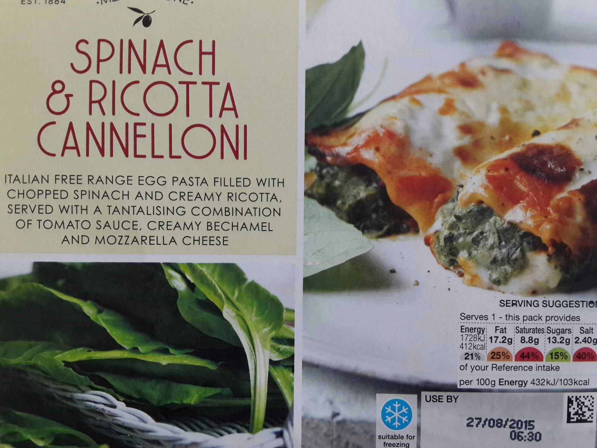 Spinach and Ricotta Cannelloni - Marks and Spencer - 400g