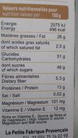 Macarons bio aux amandes - Informations nutritionnelles - fr