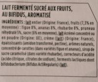 Yaourt Activia au bifidus - Ingredienti - fr