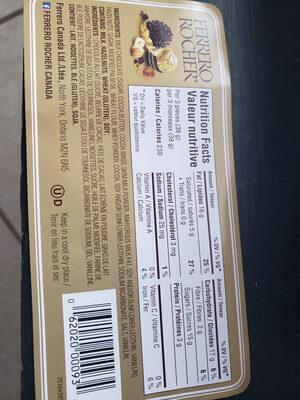 Ferrero rocher fins chocolats à la noisette - Ingrédients - fr