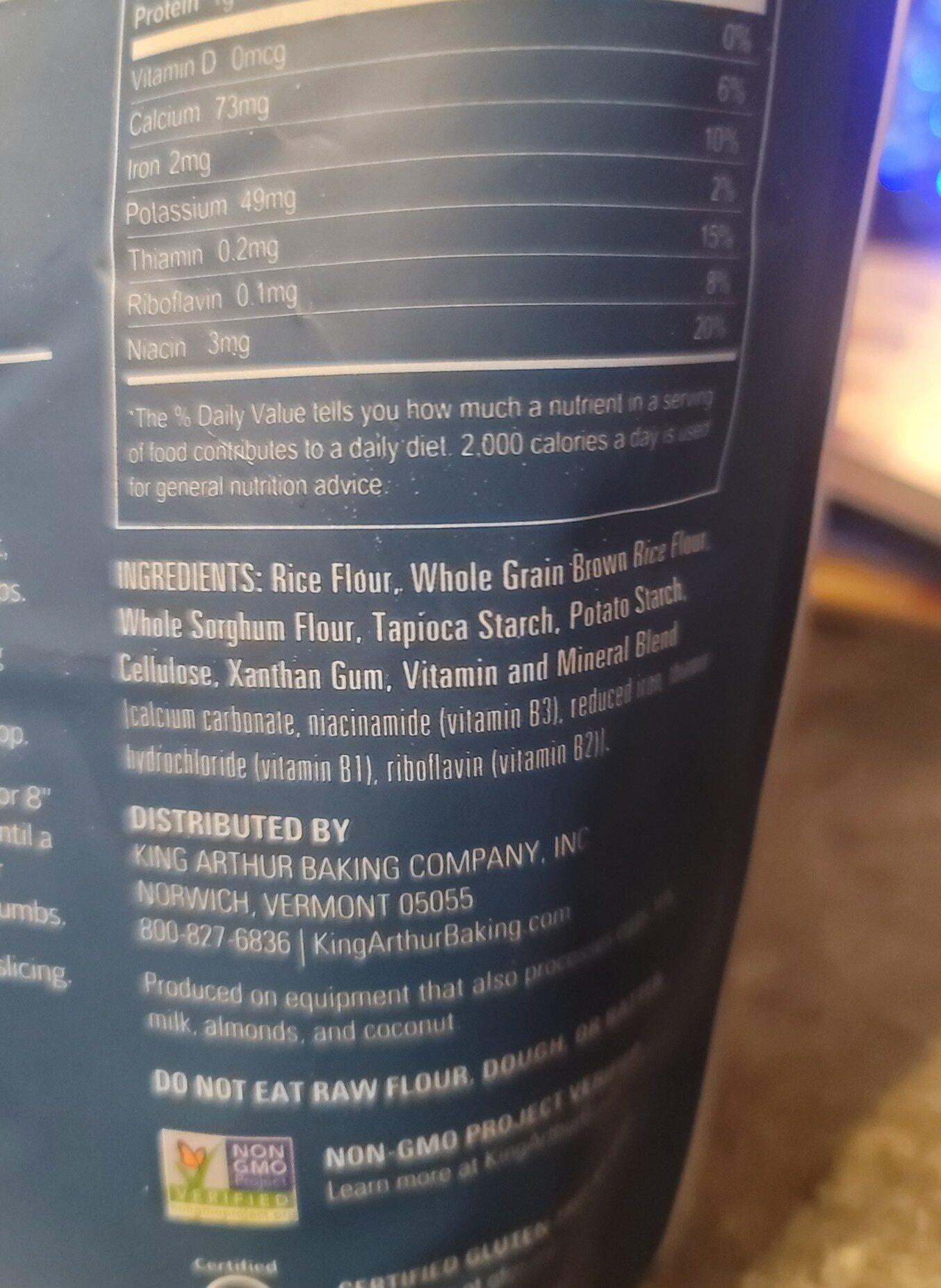 king Arthur flour - Ingredientes - en